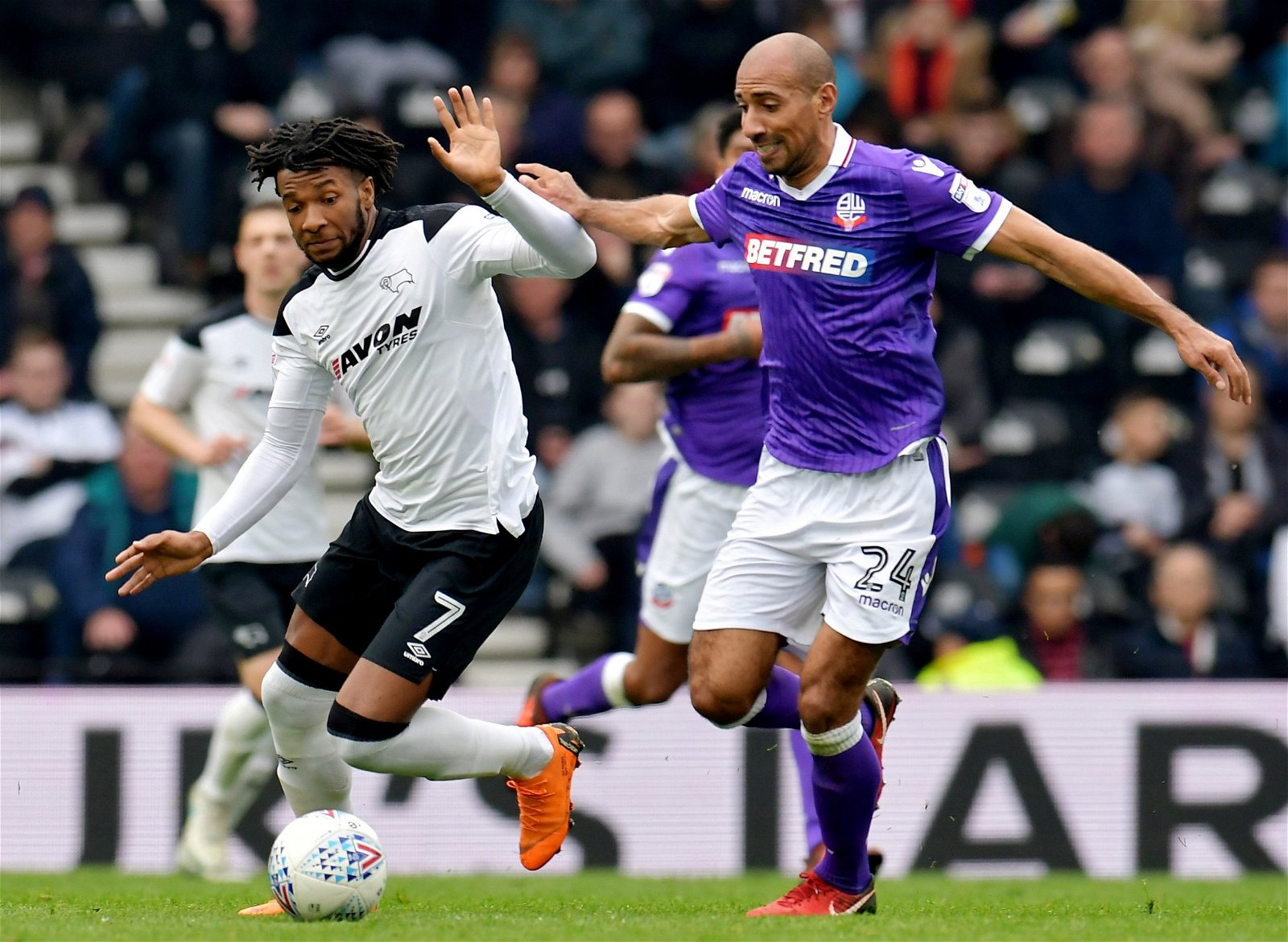 Kasey Palmer in action against Bolton
