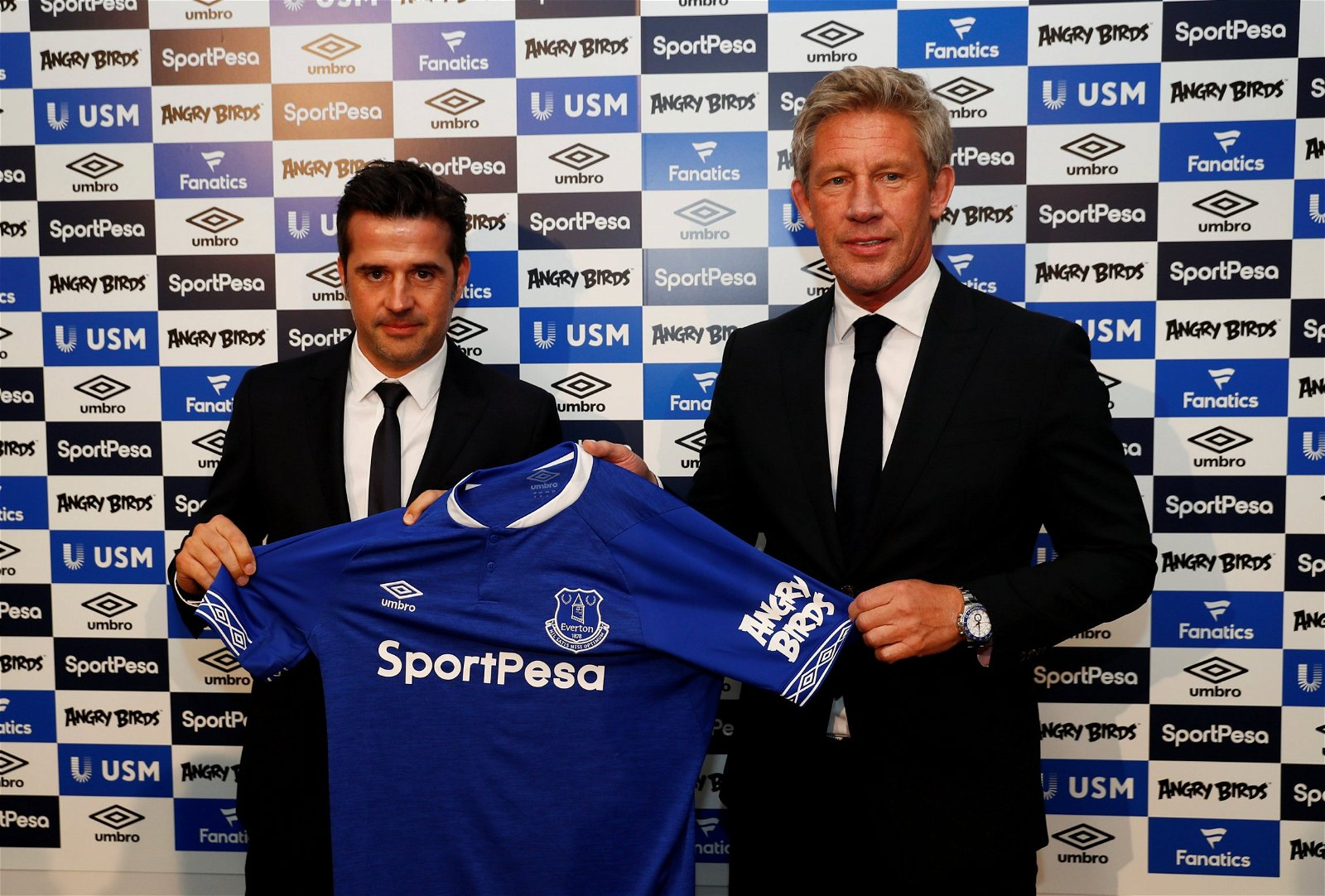 Marcel Brands with Marco Silva