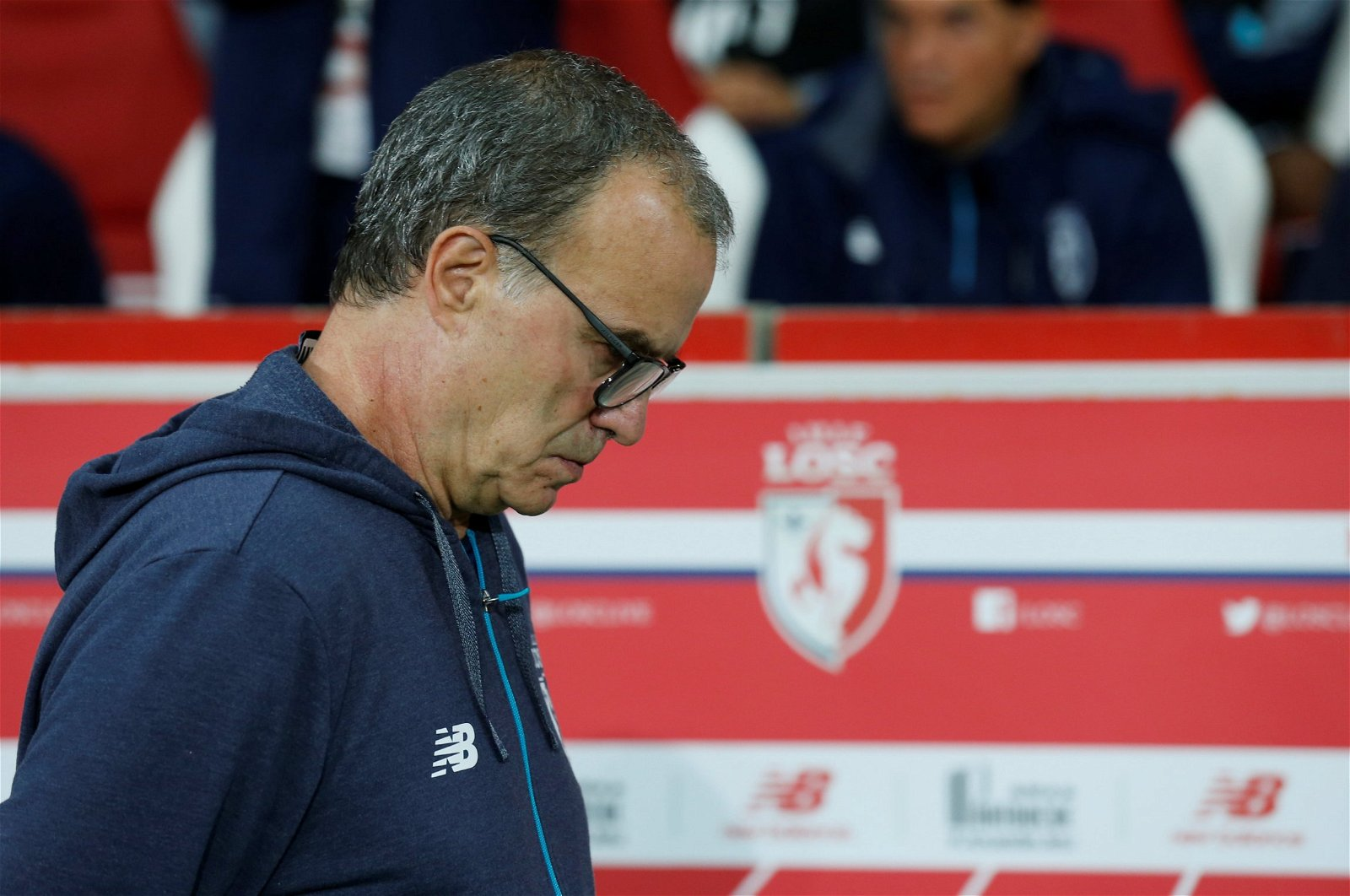 Marcelo Bielsa deep in thought