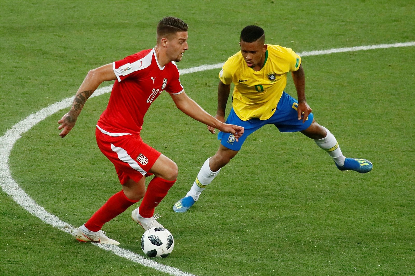 Sergej Milinkovic in action for Serbia