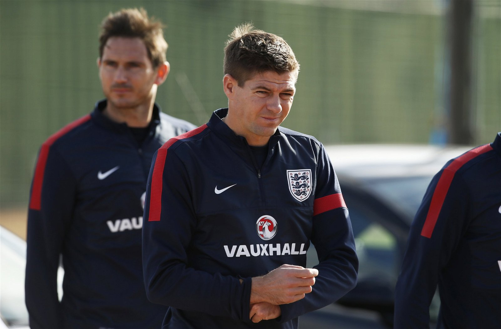 Steven Gerrard and Frank Lampard looks miserable in training