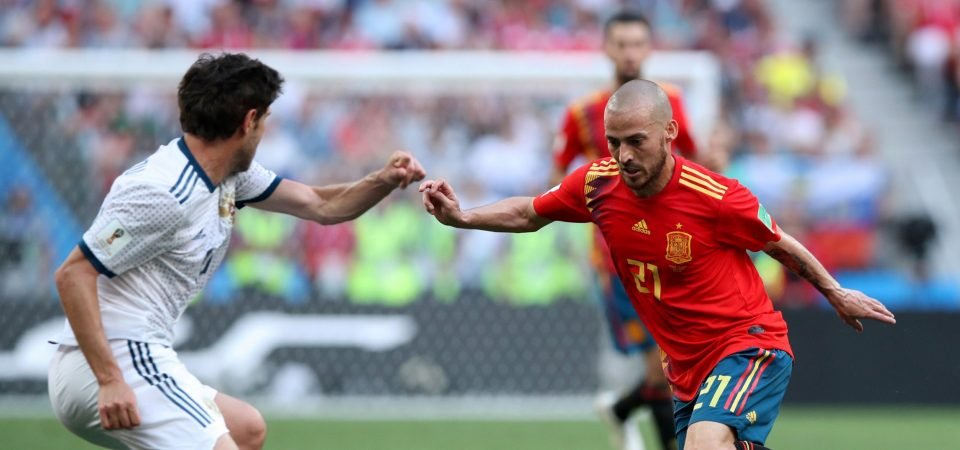 Manchester City fans question David Silva's performance as Spain bow out
