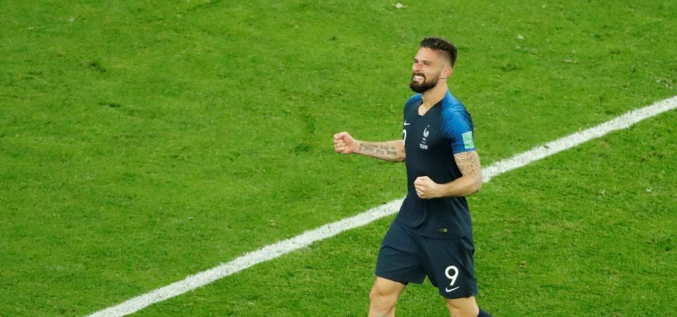 Arsenal fans want Giroud to win World Cup with France