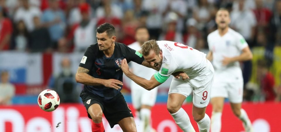 Liverpool fans hail Lovren for keeping Kane quiet during World Cup misery for England