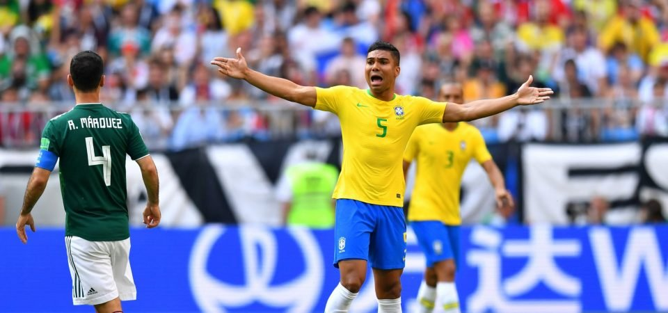 Just like for Brazil, Casemiro could take over from Fernandinho at Manchester City