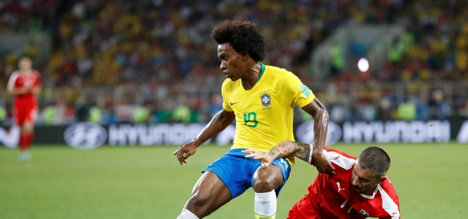 Chelsea fans react to reports linking Willian with a move to Barcelona this summer