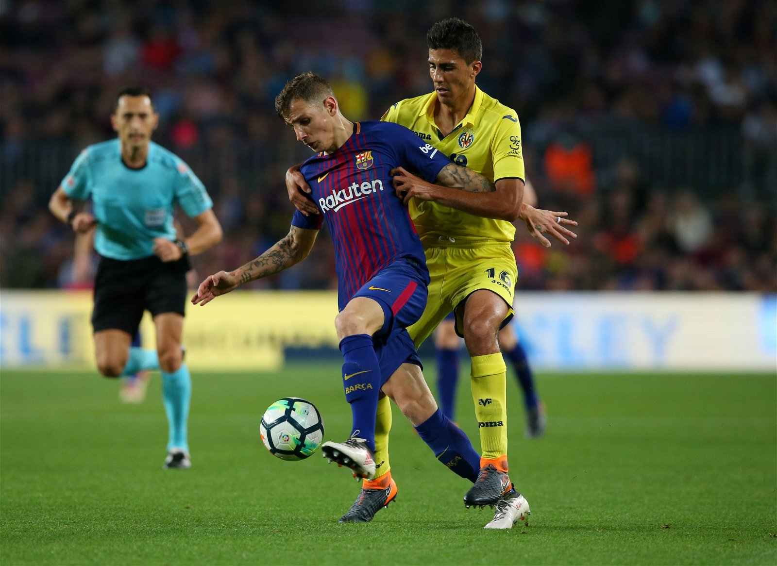 Digne in action for Barca