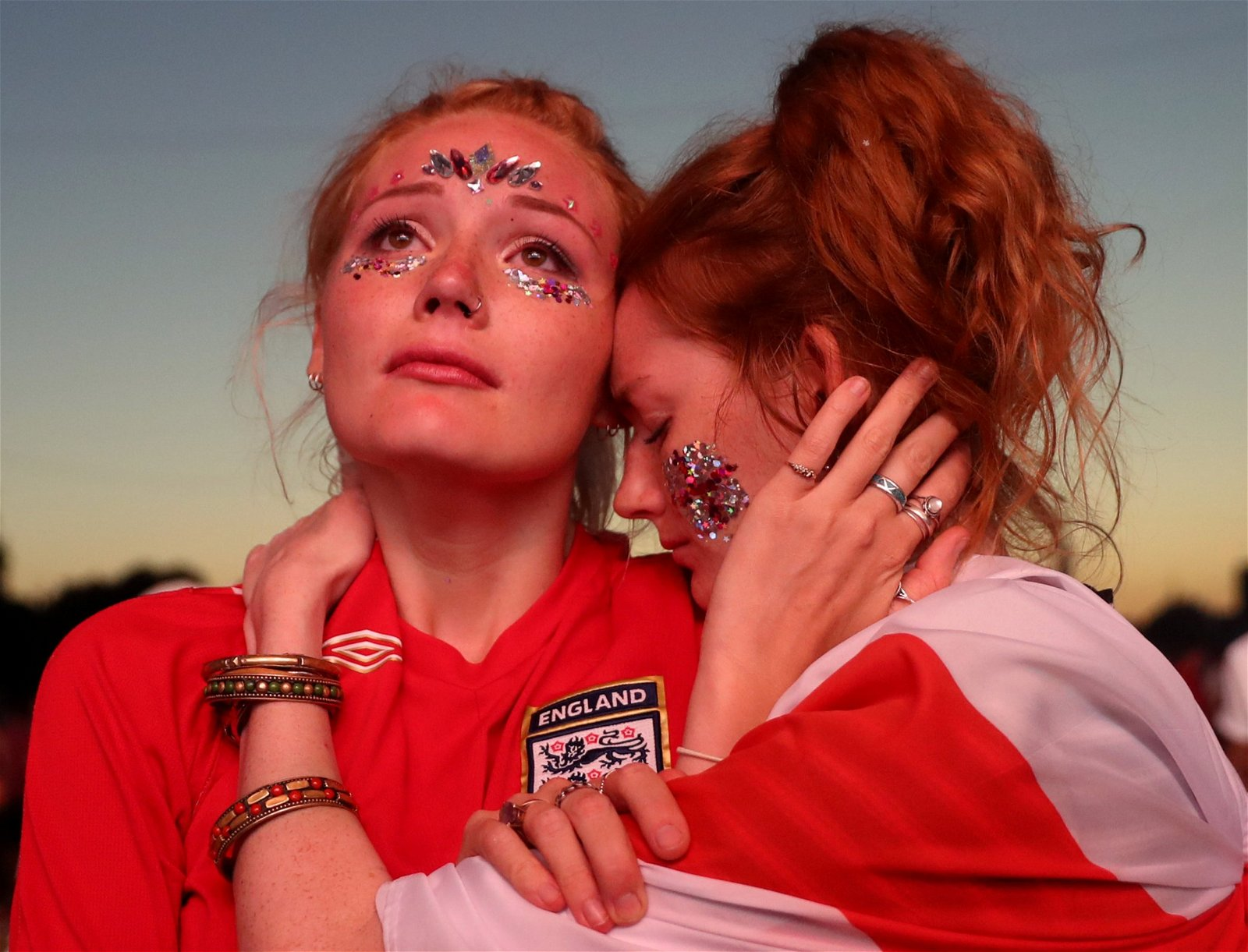 England fans cry as they lose to Croatia