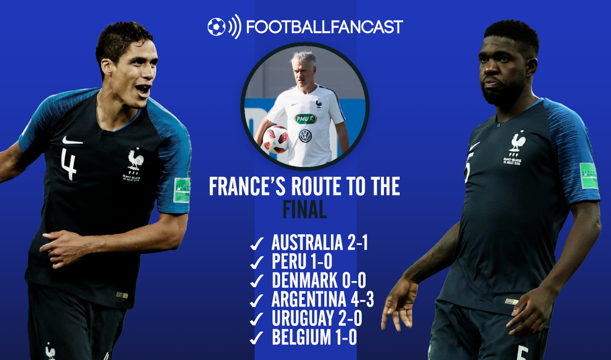 France's Route to the World Cup final