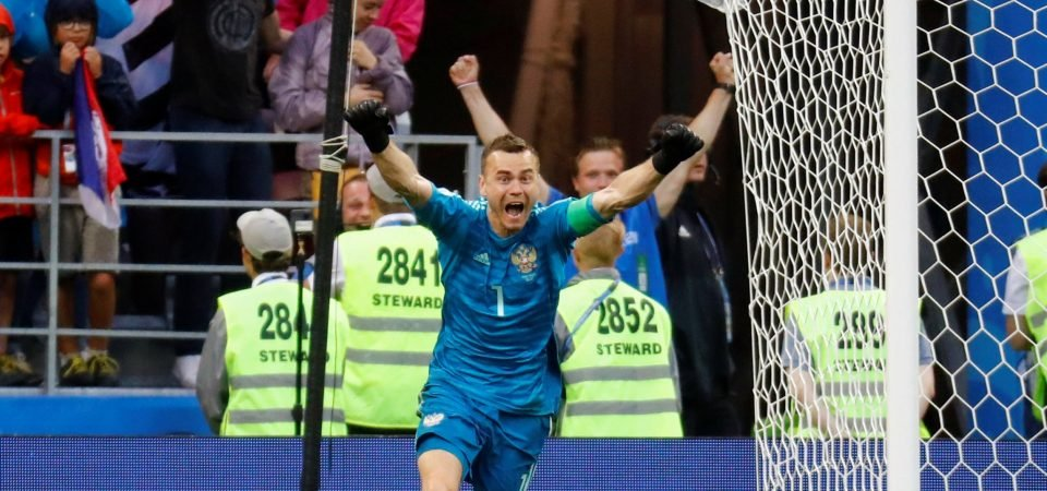 These Arsenal fans want club to sign Russia goalkeeper Igor Akinfeev