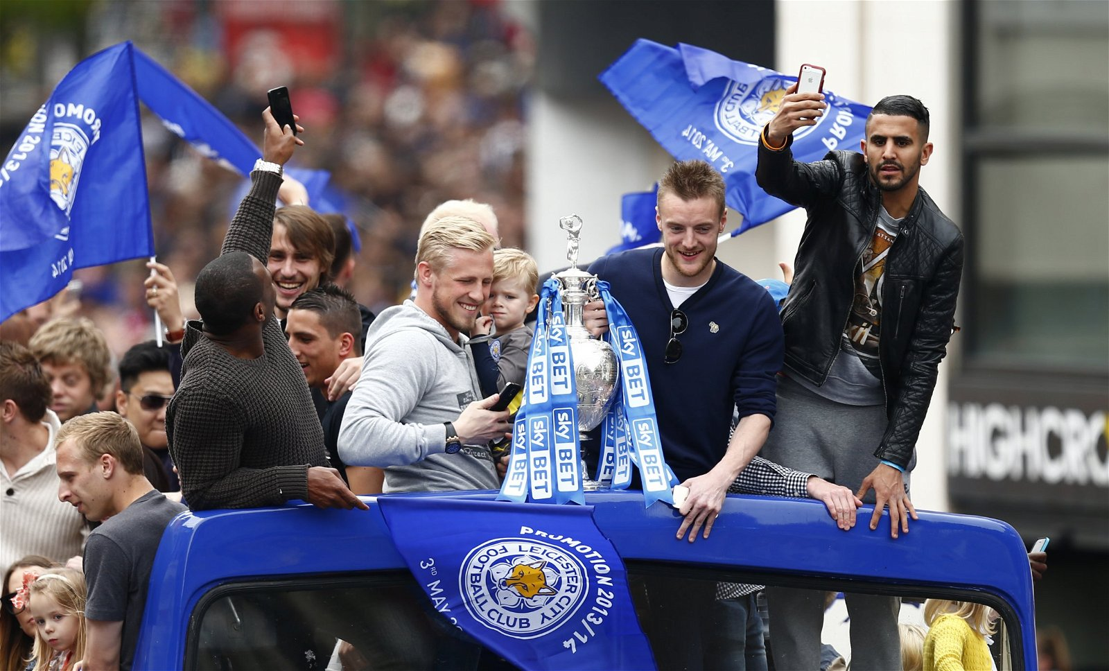 Leicester City Championship winners parade