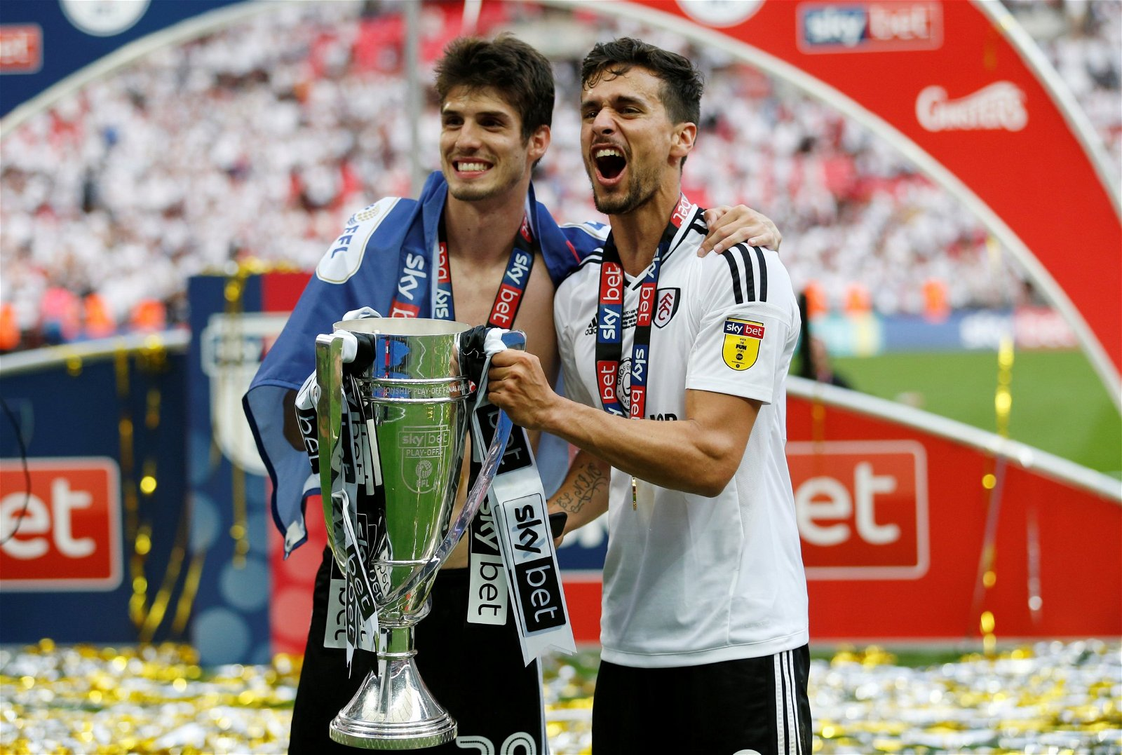 Lucas Piazon with the Championship play-off trophy