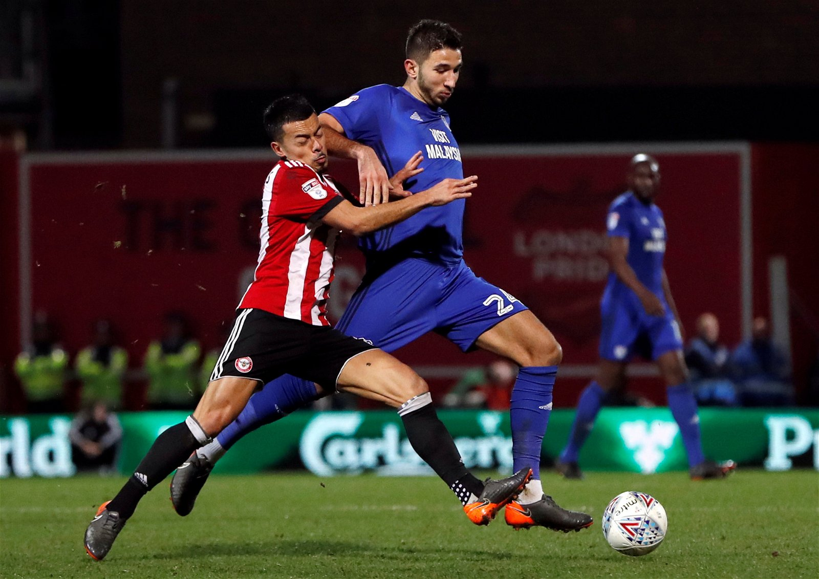 Marko Grujic in action for Cardiff against Brentford