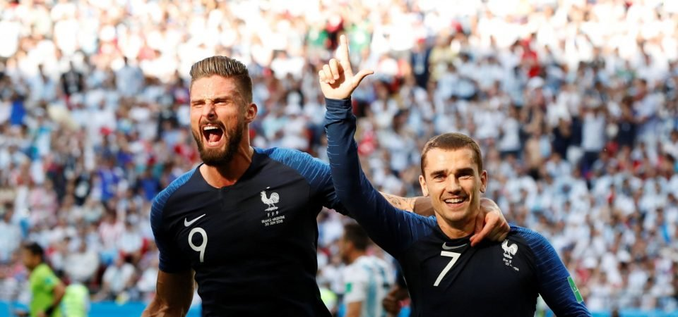 Some Arsenal supporters miss Olivier Giroud after watching his France performance