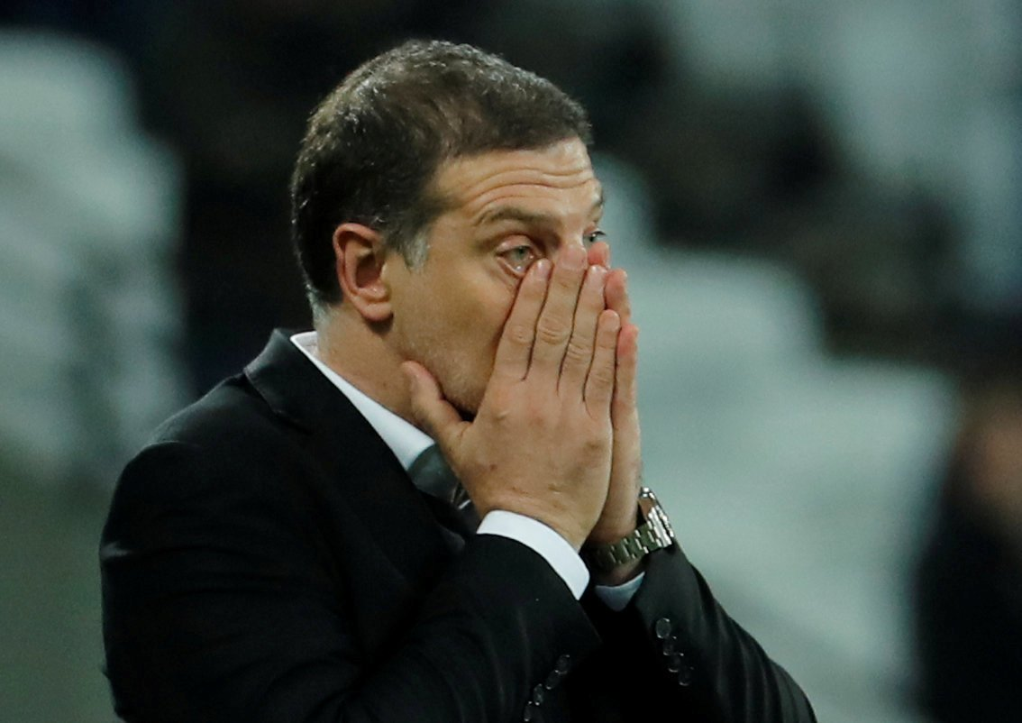Slaven Bilic looks distraught as West Ham lose to Liverpool
