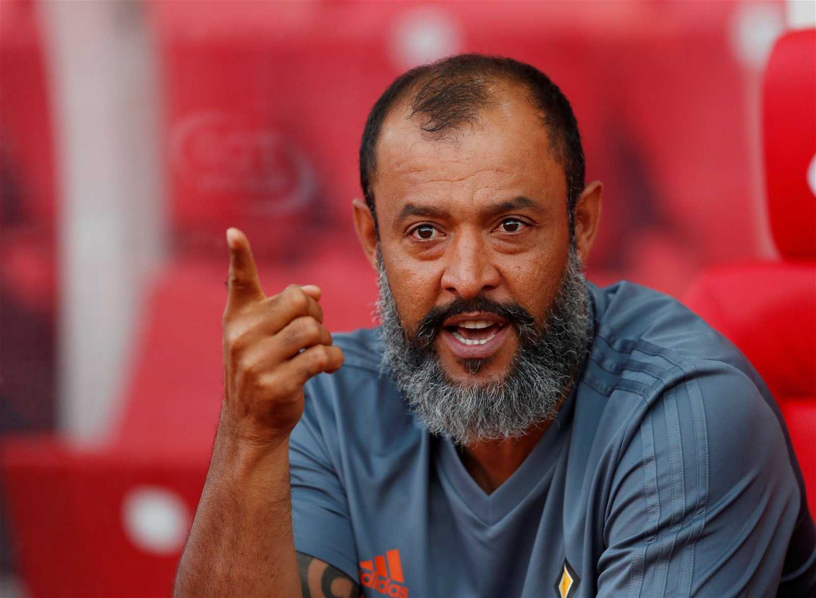Wolves manager Nuno Espirito Santo watches on