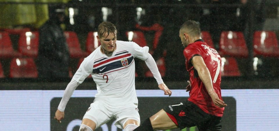 Aston Villa fans want Odegaard to join club on loan