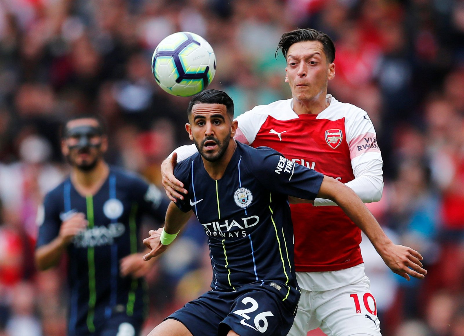 Riyad Mahrez makes his Premier League debut for Man City v Arsenal