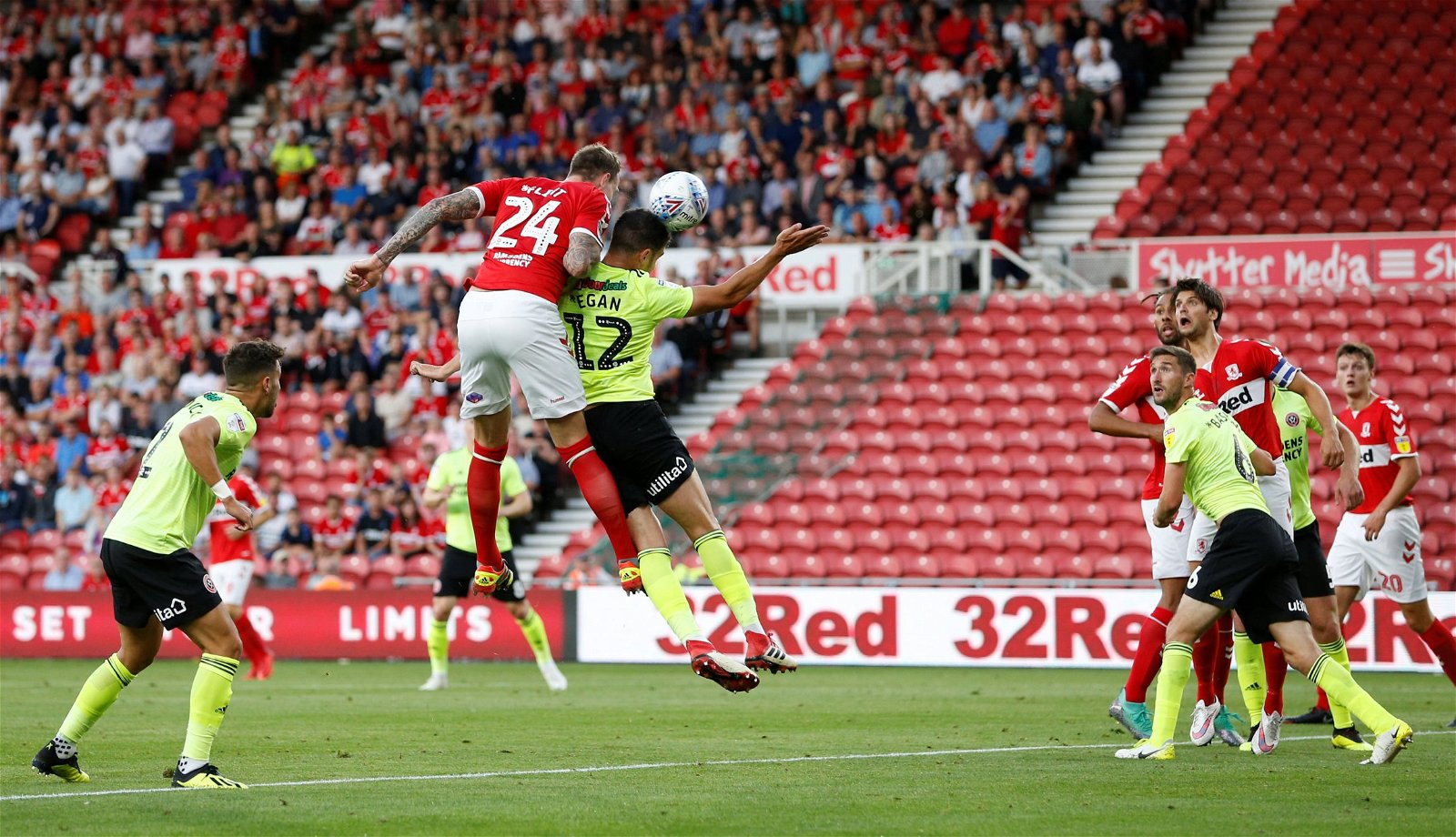 Aden Flint heads in for Middlesbrough