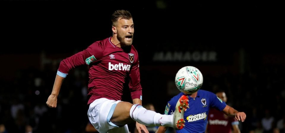 West Ham fans take their frustrations out on Yarmolenko
