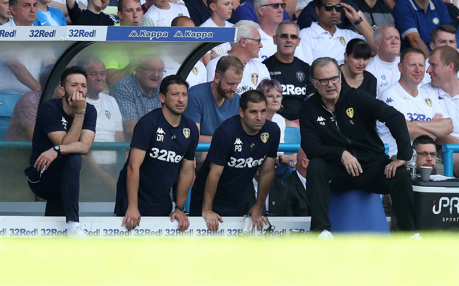 Bielsa sits watching Leeds vs Stoke