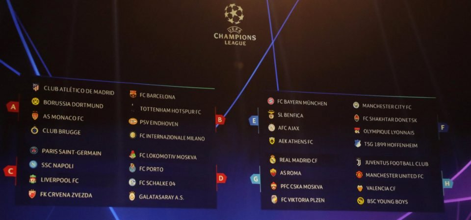 Tottenham fans react to Champions League group stage draw