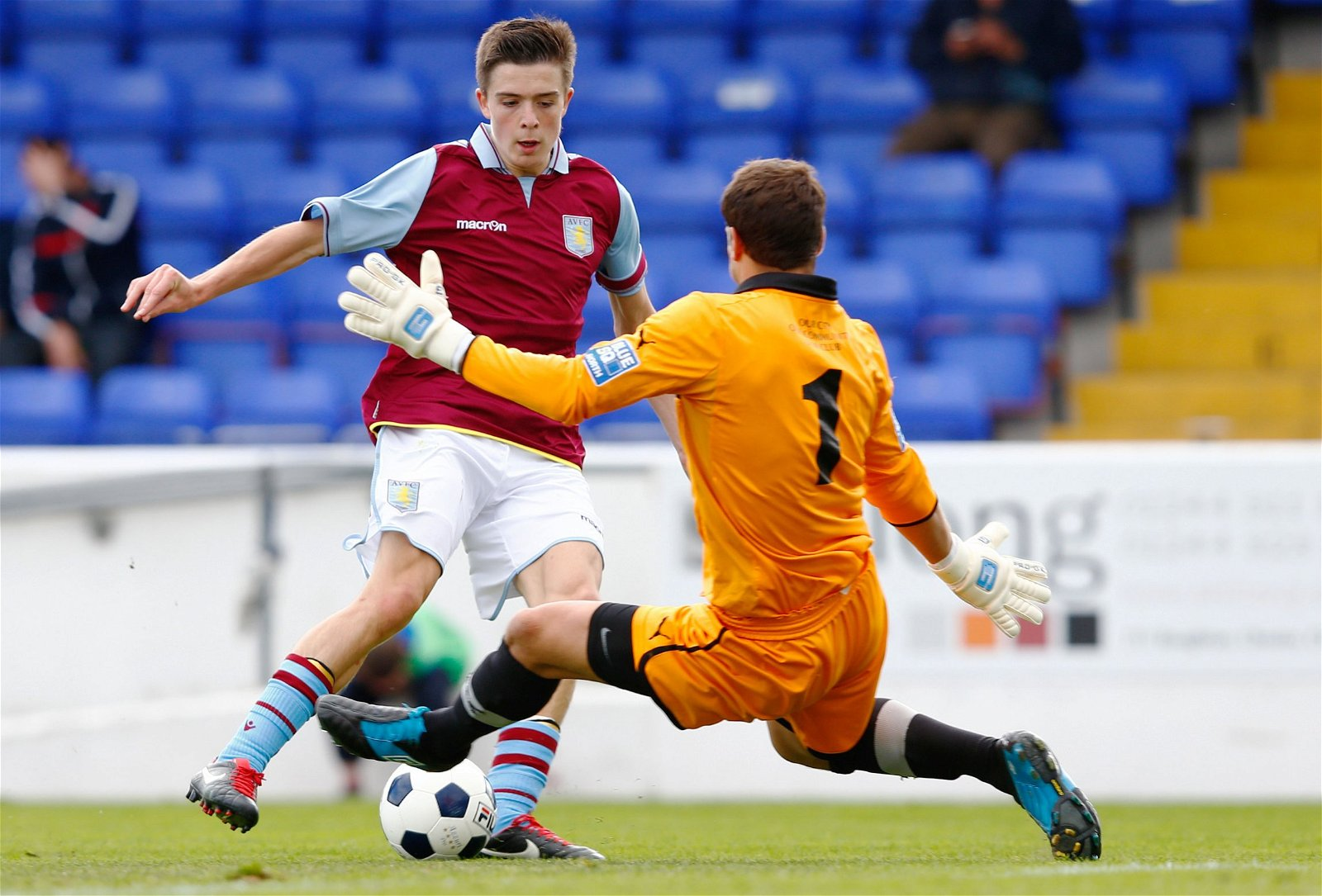 Jack Grealish in action for Aston Villa in 2012