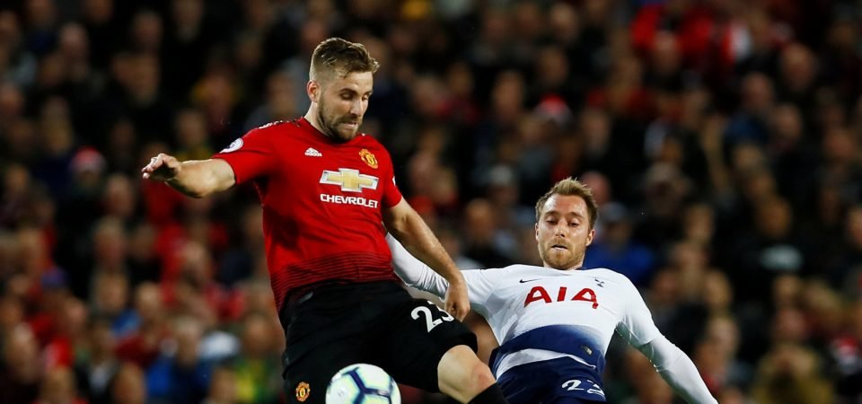 Manchester United fans loved Shaw's performance vs Tottenham