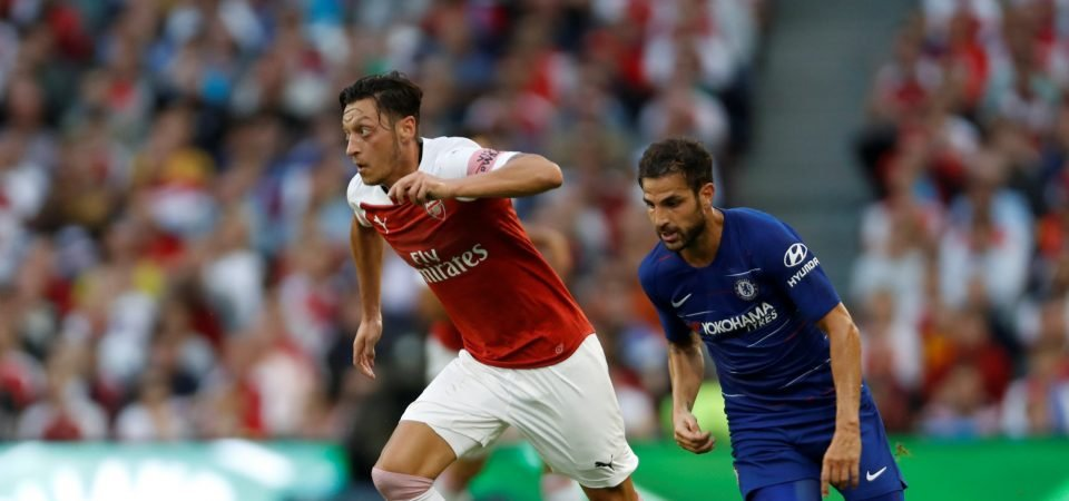 Arsenal fans stick up for Ozil amid shroud of criticism