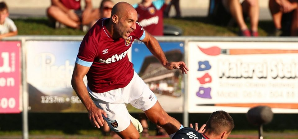 West Ham fans want Zabaleta to replace Fredericks against Bournemouth