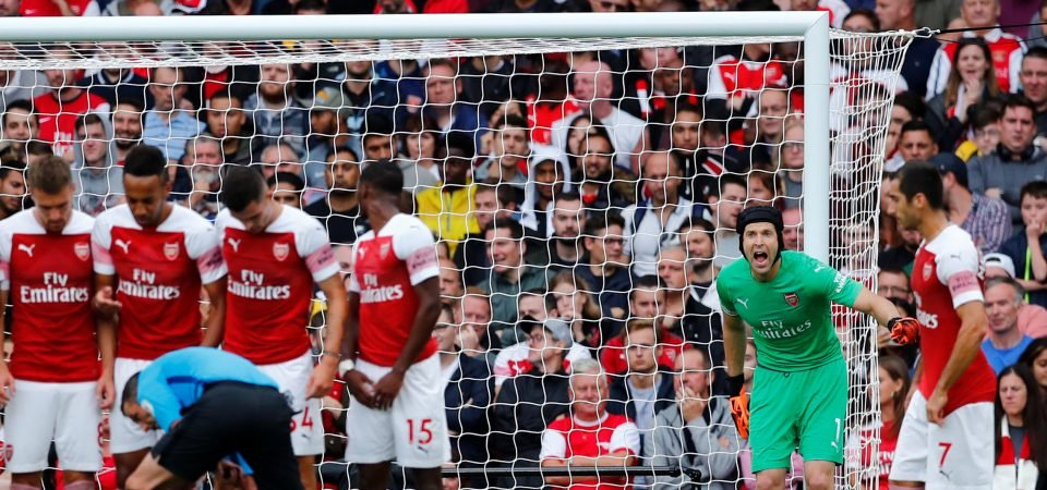 Arsenal fans divided over Unai Emery's selection of Petr Cech