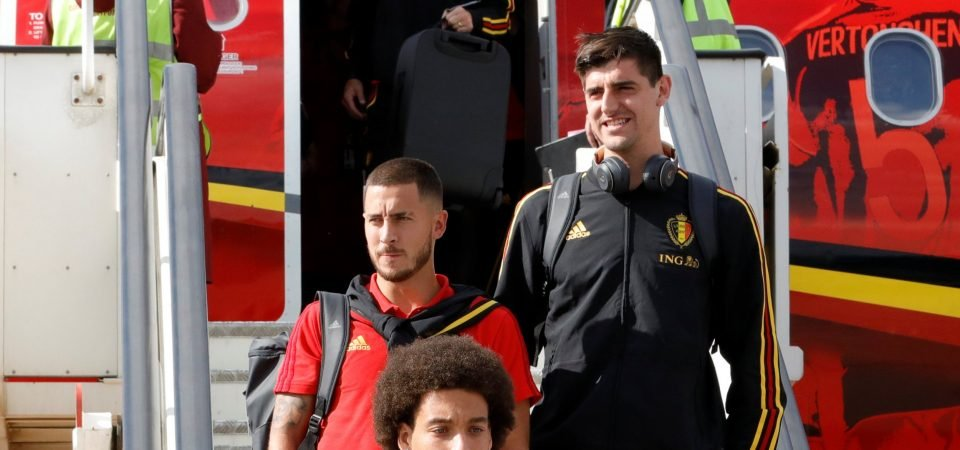 Courtois urges Hazard to join him at Real Madrid, Chelsea fans react