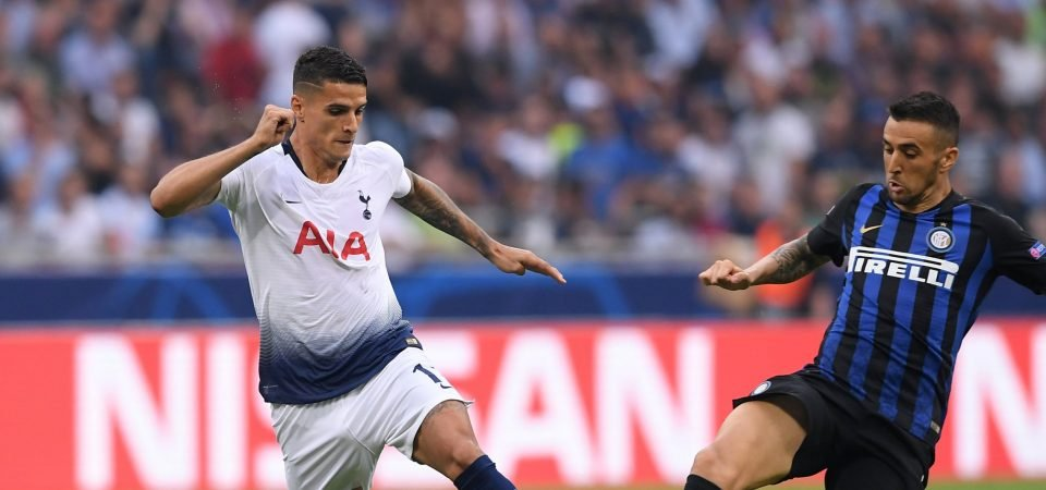 Tottenham fans unhappy with Lamela substitution