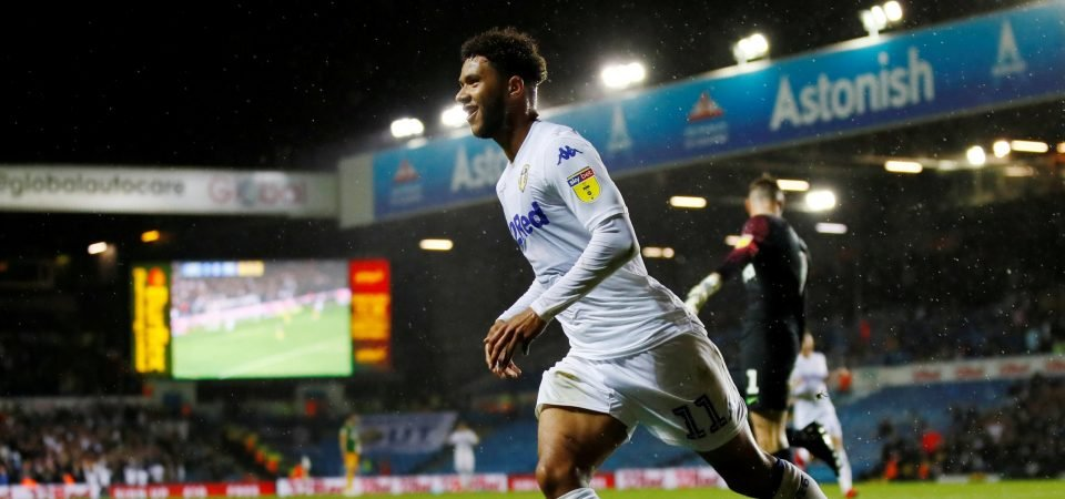 Leeds fans delighted with Tyler Roberts brace