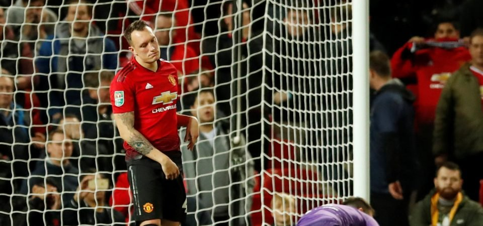 Manchester United fans weren't comfortable with Phil Jones taking a penalty kick
