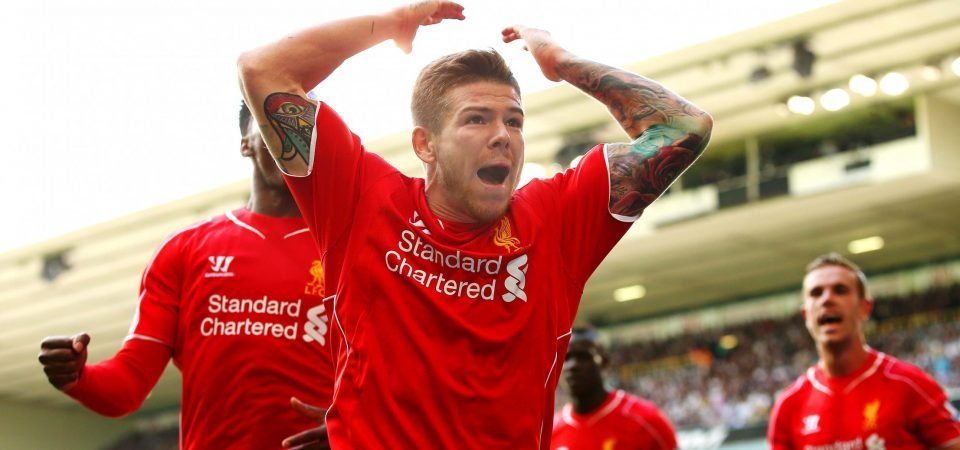 You'll be missed: Liverpool fans hail the outgoing Alberto Moreno