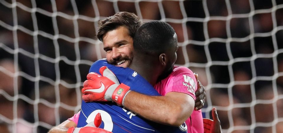 Liverpool fans heap praise on Alisson display vs Chelsea