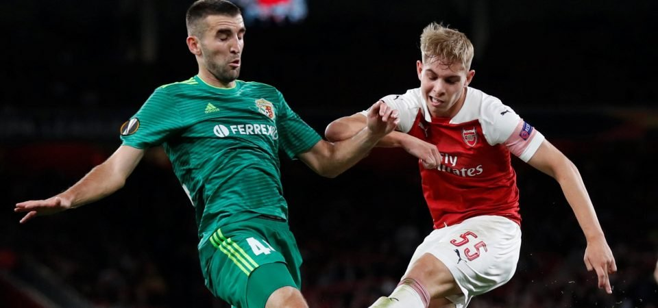 Arsenal fans excited about Emile Smith-Rowe's future after debut performance