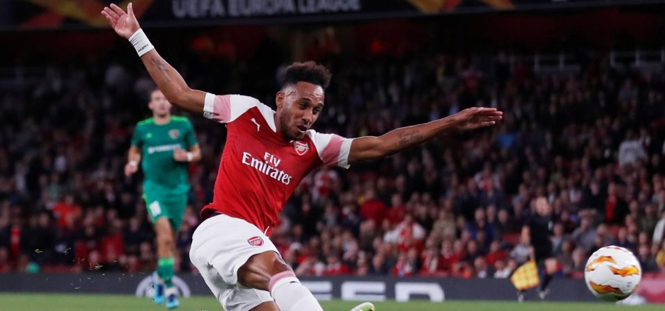 Arsenal fans delighted with Aubameyang's Europa League display