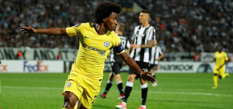 Chelsea fans liking the look of their Europa League captain Willian