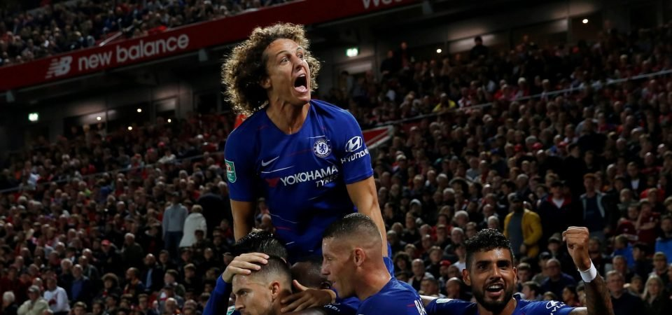 Chelsea fans adore Luiz's commitment during EFL Cup win over Liverpool