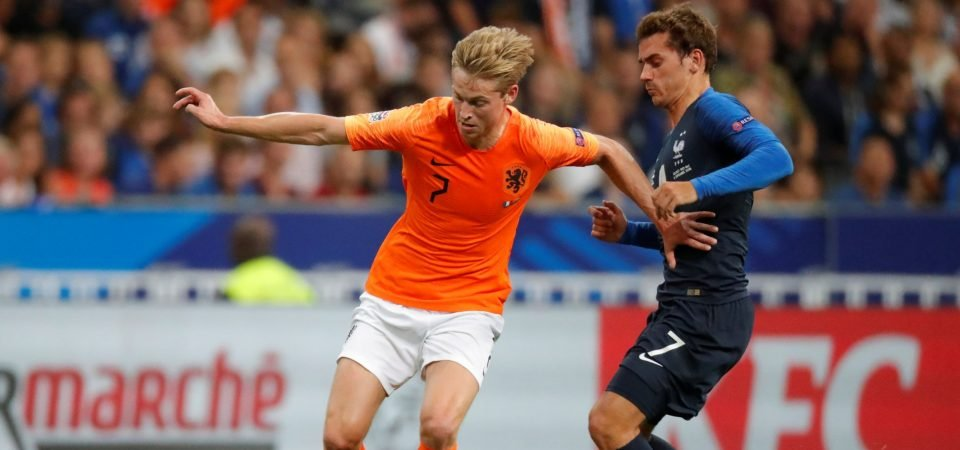 Ajax set huge £62.3m asking price for Spurs target De Jong