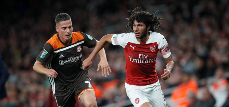 Arsenal fans far from pleased with Elneny's display v Brentford