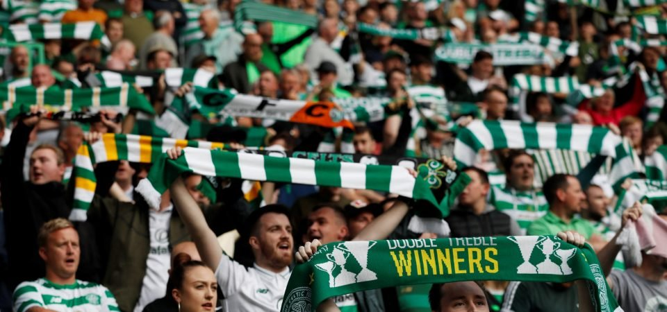 These Celtic fans gave a mixed reception to Filip Benkovic's debut vs St Mirren