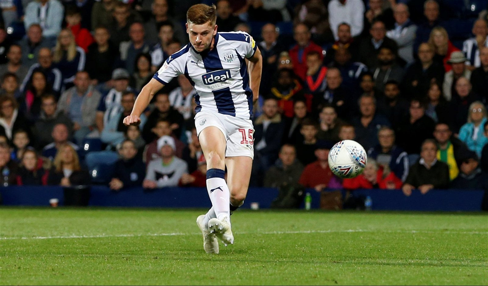 Harvey Barnes scores for West Bromwich Albion against Bristol City