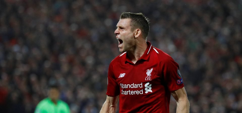 Klopp will have to shake up midfield as Milner faces month on the sidelines