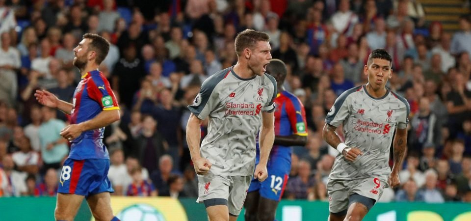 Liverpool fans stunned by Milner performance