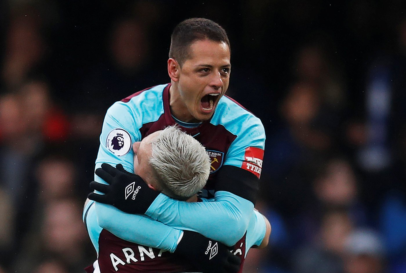 Hernandez and Arnautovic