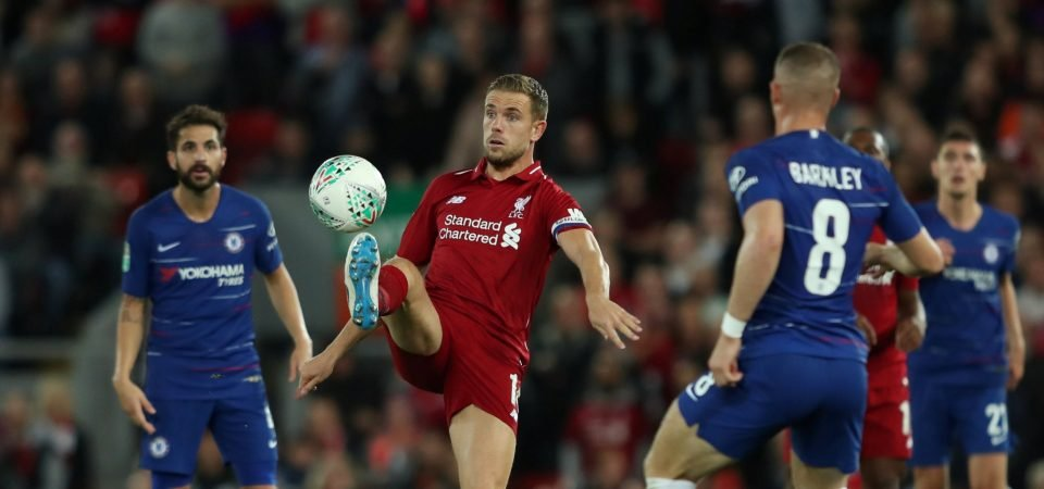 Liverpool fans want Jordan Henderson to be dropped