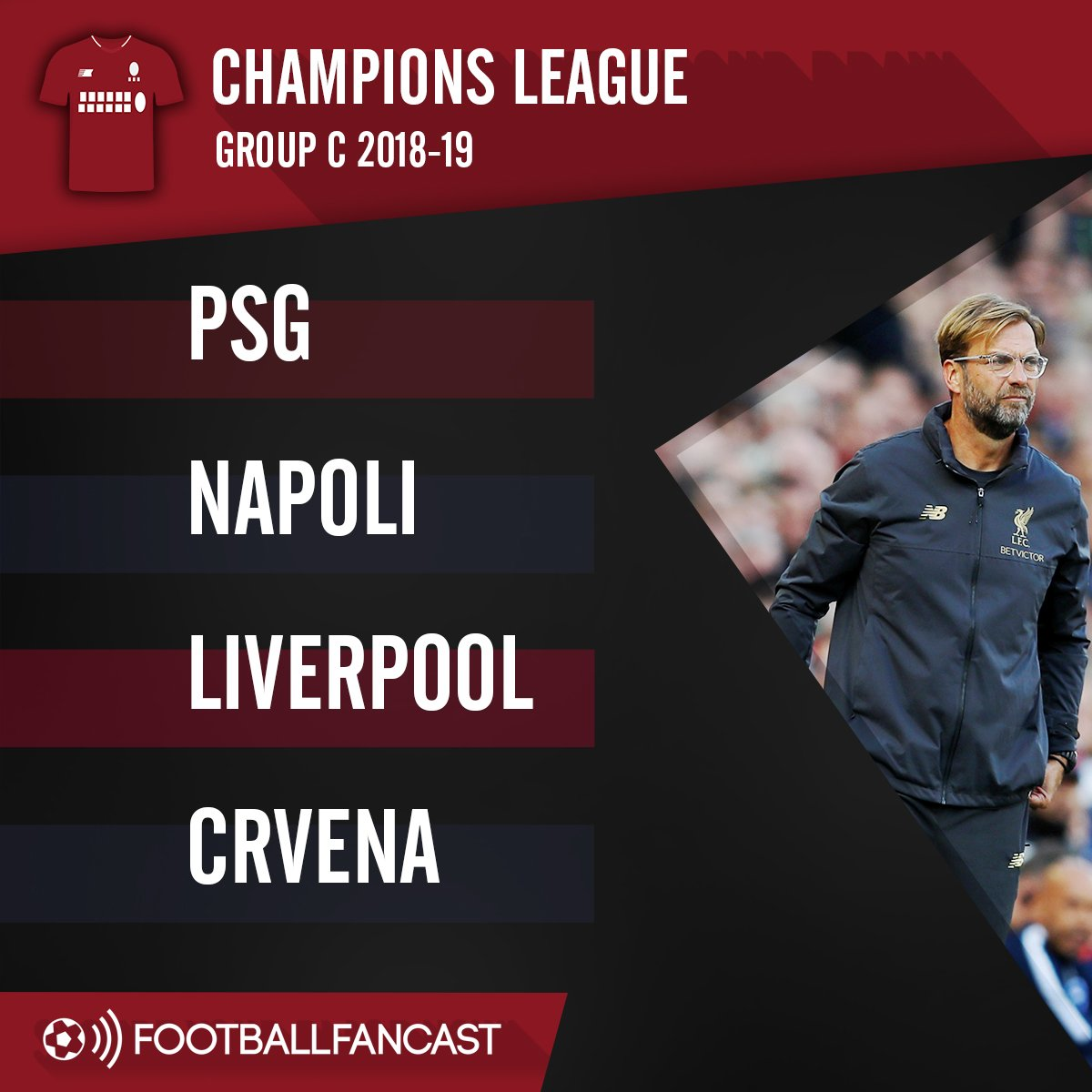Liverpool's Champions League group